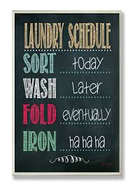 laundry schedule chalkboard textual wall plaque shopping for