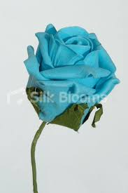 turquoise roses shop yf43 turquoise bunch of 6 cottage foam roses 5050473913050