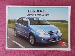 citroen c3 2002 2005 owners manual owners guide handbook