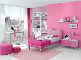 bedroom pink wall paint decoration glass curtain walls student