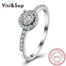 aliexpress buy u7 classic fashion wedding band rings aliexpress buy visisap 925 sterling silver rings for women