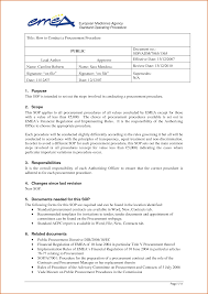 11 standard operating procedure template word