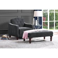 Tufted Vintage Sofa Novogratz Vintage Tufted 3 Piece Living Room Set Multiple Colors