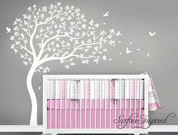 White Tree Wall Decal Nursery Nursery Wall Decals White Tree Wall Decal Large Tree Wall
