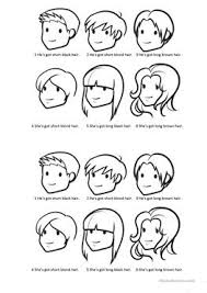 esl hairstyles 59 free esl hair worksheets