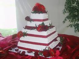 Square Wedding Cakes One Stop Wedding Red And White Square Wedding Cakes