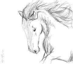 horse head sketch 2 by 0 no 0 on deviantart