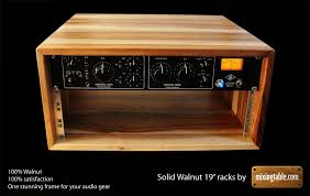 Audio Racks 19 Inch Walnut Racks For Audio Gear By Mixingtable Com