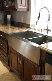 stainless farmhouse kitchen sink huge stainless steel sink with two sides for dishes and a separate