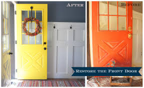painting our front door for fall the lucky homestead