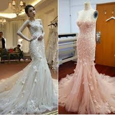 pink wedding dress aliexpress buy white blush pink wedding dress mermaid