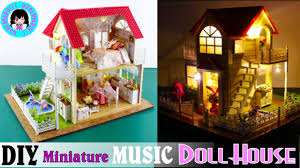 diy miniature music dollhouse with lights princess cottage youtube