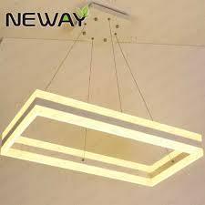Rectangle Pendant Light 92w Up Down Rectangle Hanging Light Pendant Chandelier For