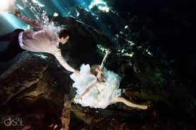 riviera maya cenote trash the dress alison and calvin del sol