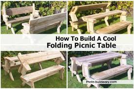 Convertible Picnic Table Bench Amazing Diy Folding Picnic Table 31 About Remodel Home Decoration