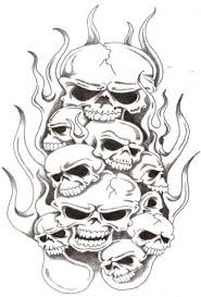 amazing of style skull tattoos especially flaming