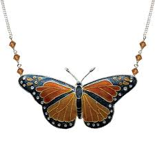 butterfly jewelry necklace images Butterfly necklace monarch cloisonne jewelry bamboo jpg