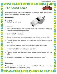 the sound game u2013 cool science activities for 3rd grade u2013 of