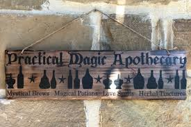 apothecary home decor ready to ship practical magic apothecary sign mystical