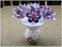 Origami 3d Flower Vase Paper Flower Vase 3d Origami Home Decoration