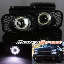 2003 chevy silverado fog lights for 03 06 silverado 1500 2500 3500 smd halo projector fog lights