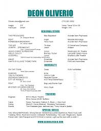 Theatrical Resume Sample by Cover Letter Sample Musical Theatre Resume Sample Musical Theater