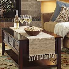 table runner for coffee table jute natural table runner pier 1 imports