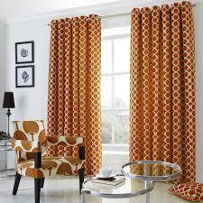 Eyelet Curtains Oh Orange Chenille Jacquard Eyelet Curtains Ready Made Curtains