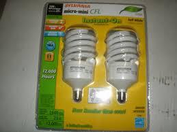 100w cfl light bulbs sylvania 2 pack 23 watt 100w spiral candelabra base soft white