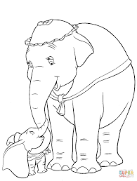 dumbo and mom coloring page free printable coloring pages