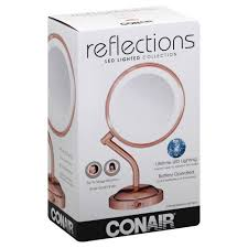 conair led lighted mirror reflections led lighted collections mirror rose gold