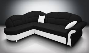 Black Sofa Bed by Sofa Bed Romero And Single Chair Bonded Leather Black White