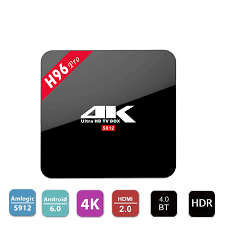 pro android 4k player h96 pro android 6 0 marshmallow tv box amlogic s912