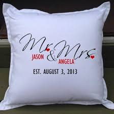 mr and mrs pillows mr mrs personalised wedding gift pillow weddings how