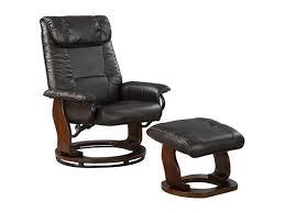 Leather Swivel Recliner Primo International Total Comfort Mocha Bonded Leather Swivel