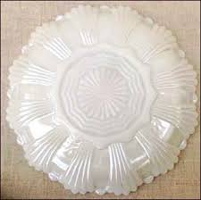 glass egg plate iridescent milk glass anchor hocking deviled egg plate dish 1960
