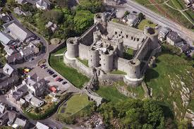 Medieval Castle Floor Plan Air View Harlech Castle England 1286 90 Architecture Castle