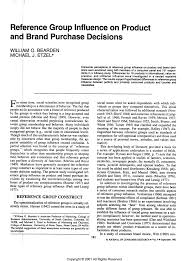 Emerging Brands For A Cause Reference Group Influence On Product And Brand Purchase Decisions