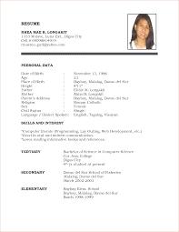 sle resume for college students philippines formal resume format sle endo re enhance dental co