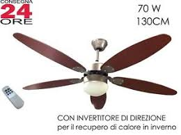 ventilatore soffitto telecomando ventilatore a soffitto 纔 130cm 5 pale con telecomando luce