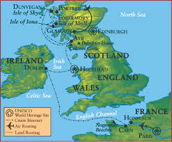 Map Of England And Scotland by Usf Alumni Celtic Lands Cruise