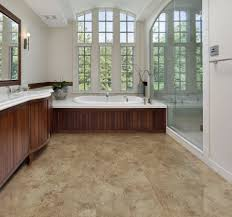 beige tile vinyl plank flooring matched with white wall