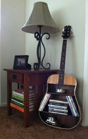 to repurpose guitars in home decor