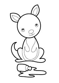 baby kangaroo coloring netart