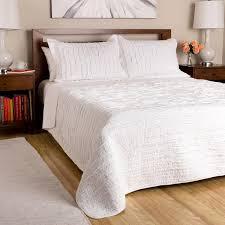 greenland home fashions white ruffled 3 piece quilt set free