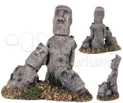 easter island rock statue ruins large polyresin