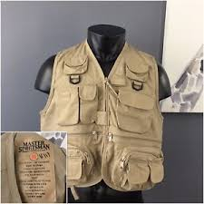 Rugged Outdoor Jackets Master Sportsman Rugged Outdoor Gear Size M Fishing Vest Khaki