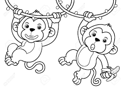 coloring monkey coloring