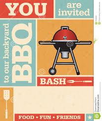 retro barbecue invitation stock vector image 51558594