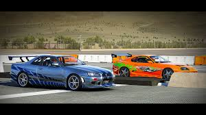 nissan gtr skyline fast and furious forza 6 fast and furious nissan skyline gt r r34 vs toyota
